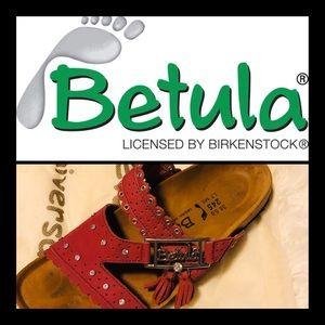 Birkenstock Betula KRYSTLE Ruby US 7 EU 38 in Box